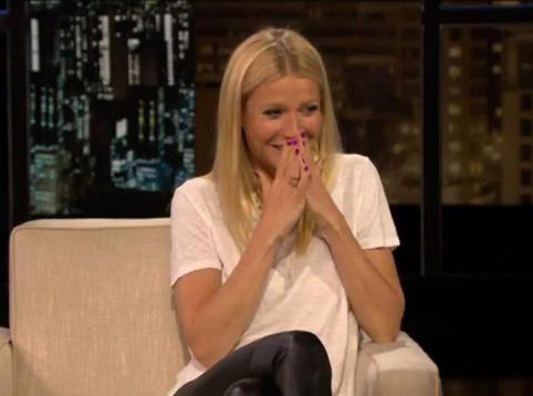 aww, poor gwyneth is embarrassed