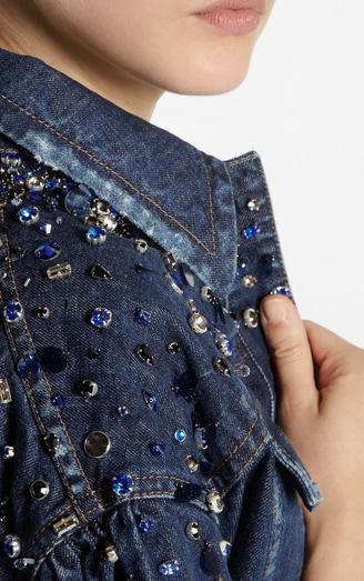 Miu Miu denim jacket close-up
