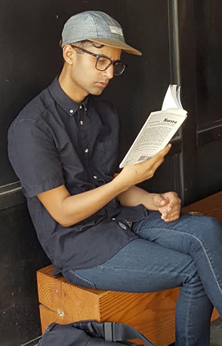 hipster downtown reading nausea